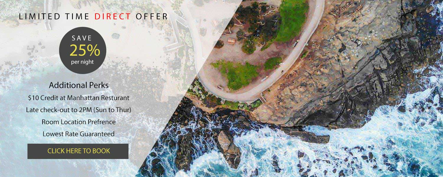 Arial view of the La Jolla Cove